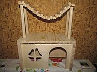 Домик для шиншиллы с гамаком