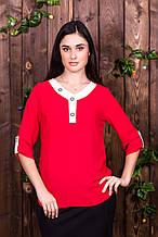 Блузка 205 красная 48 размер