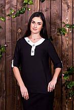 Блузка 205 черная (48-54)