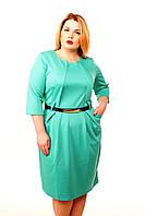 Платье для пышных форм Верона мята(50-54)