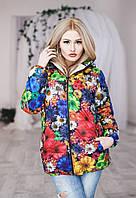 Куртка женская  ткань плащевка, Утеплитель: синтепон 100, мех Опал № 9028