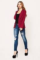 Пиджак женский Жанна бордовый
