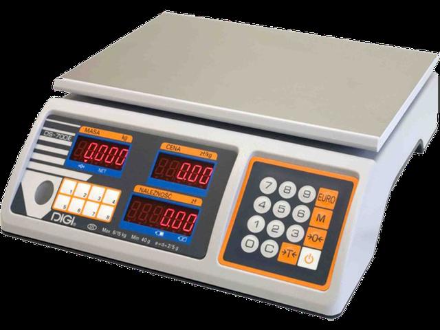 Весы торговые Digi DS 700 EB (15 кг) ― настольные весы для торговли