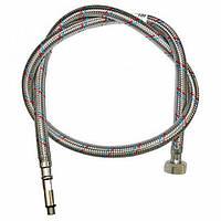 Шланг для подключения воды в алюминиевой оплетке М-10 для смесителя длинной 30 см (длин)  Никифоров