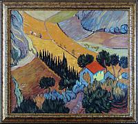 «Пейзаж с домом и пахарем», копия картины Ван Гога картина маслом