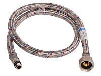 Шланг для подключения воды в алюминиевой оплетке М-10 для смесителя длинной 80 см (кор)  Никифоров