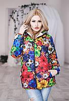 Куртка женская Цветы, Лапки 9028 о.п.