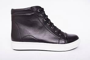Ботинки из натуральной черной кожи №332-3
