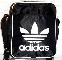 Сумка-планшет Adidas, Адидас черная с белым, фото 1