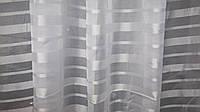 Тюль шифон атласная полоса , фото 1