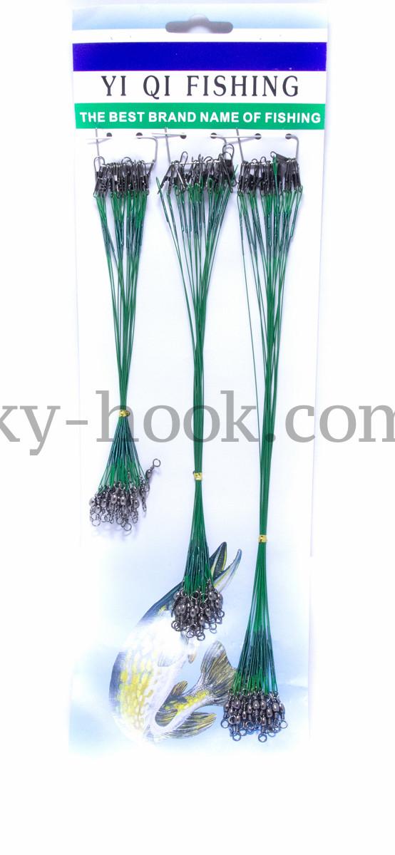 Поводки зелёные 15-20-25cm 60шт.