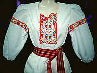Блуза украинская для девочек (х/б, рукав 3/4)(р.36-42), фото 1