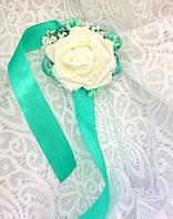 Бутоньерка-браслет для невесты, свидетельницы, гостей (цвет любой)