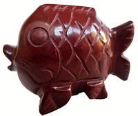Статуэтка рыбка яшма красная