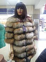 Розкішна жіноча шуба з лисиці з рукавом 3/4, фото 1