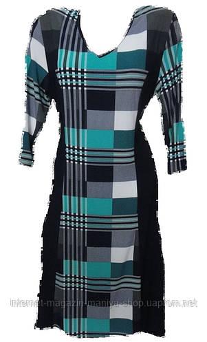 Платье батал рукав квадрат женское