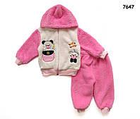 """Махровый костюм """"Мишки"""" для девочки. 1 год"""