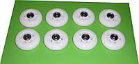 Колеса для роликовых коньков 64мм. 8 шт. (прозрачные)
