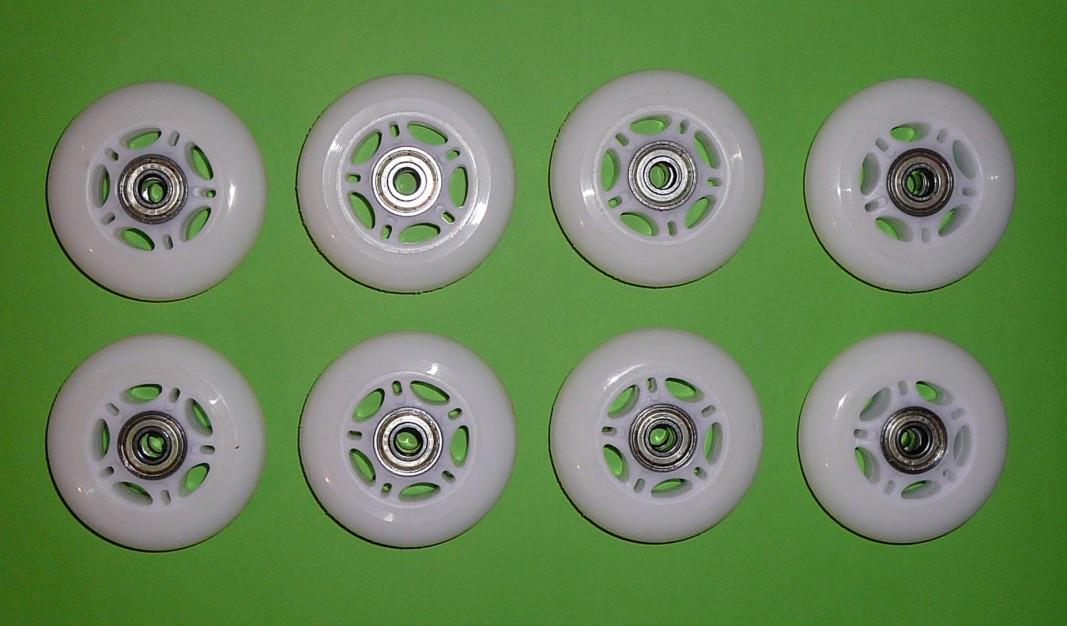 Колеса для роликов 76 мм. 8 шт. (прозрачные)