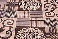 Низковорсный ковер  Лофт shaggy, Вензель-Штрих код, цвет коричневый