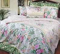 """Комплект 2-спальний Колекції """"Римський дворик"""" (зелений). Іванівський Перкаль. Бавовна 100%."""