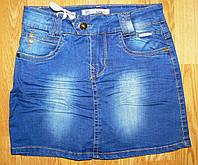 Джинсовые юбки для девочек оптом, F 14, 16 рр.