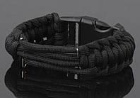 Милтек ремешок для часов паракорд черный все разм.