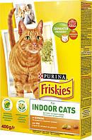 Корм Friskies Indoor Для домашних кошек, 1,5 кг