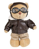 Милтек медвежонок плюшевый в костюме летчика (20 см)