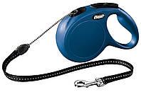 11812 Flexi Рулетка New Classic M Long 8м до 20кг трос, синий