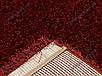 Ворсистый ковер Лотос shaggy, однотонный красный, фото 5