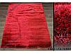 Ворсистый ковер Лотос shaggy, однотонный красный, фото 6