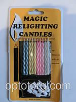 Свечи для торта магические которые не задуваются