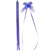 Бант из фиолетовой органзы малый 1,8*36 см. 10 штук