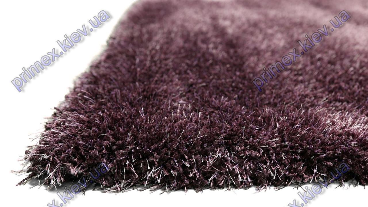 Ворсистый ковер Лотос shaggy, однотонный фиолетовый