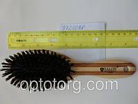 Расческа для волос массажная SALON PROFESSIONAL бамбук натуральная щетина