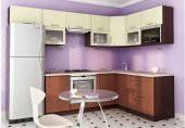 Кухня угловая МДФ, эконом стандарт-11