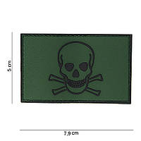 China made Skull & Bones 3D PVC Patch OD