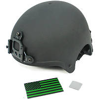 KA пласт. шлем IBH с креп. ПНВ - BK