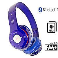 Наушники S460 bluetooth синие