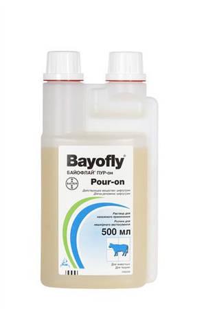 Байофлай Пур-он 1% 500 мл Bayer (Германия) ветеринарное инсектицидное и репелентное средство
