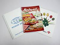 Блокноты с логотипом фирмы на пружине