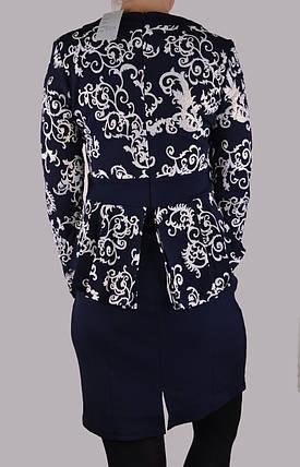 Женское платье с белыми Вензелями р.48 (WZ1516) | 2 шт., фото 2
