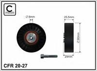 Ролик поликлинового ручейкового ремня AUDI,VW 2.0-2.5TDI 8x90x25.5 074145278E