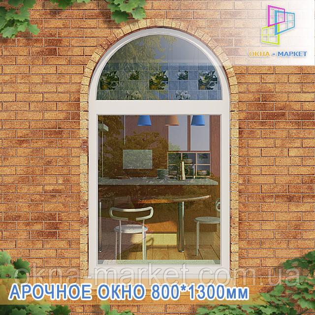 Арочное глухое окно
