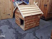 Будка для собак деревянная средняя