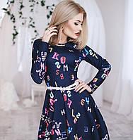Платье женское стильное Буквы № 1046 о.п.