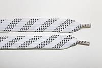 Шнурки плоские 15мм. белый+черный, фото 1