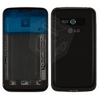 Корпус для LG Optimus Hub E510, черный, оригинал