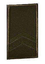 Погон хакі на липучці молодший сержант (старий зразок)
